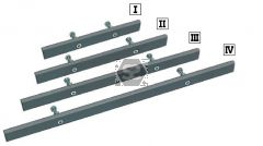 Aigner Mounting Rail Open Ended 430mm
