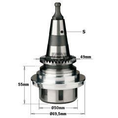 CMT 183 Toolholder ER32 ISO30 SCM CNC LH Flanged