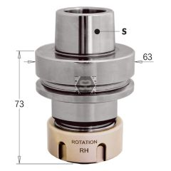 CMT 183 CNC Router Tool holder HSK 63F RH for ER32