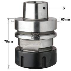 CMT 183 CNC Tool Holder ER40 HSK-F63 RH