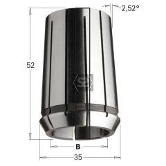 CMT Precision Collet DIN 6388 35x52 EOC-25 D=3mm