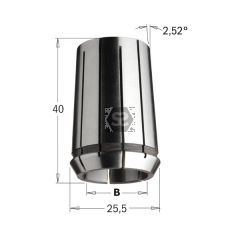 CMT Precision Collet DIN 6388 25.5x40 EOC-16 D=6