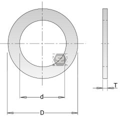 Reducing Bush for Saw Blade  D=22.2-15mm