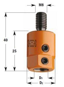 CMT 301 Drill Adaptors S=M8 D=10 RH Nottemeyer