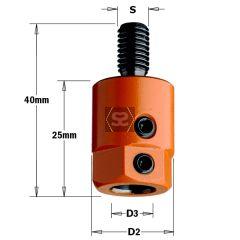 CMT 301 Drill Adaptors S=M8 D=8 LH Nottemeyer