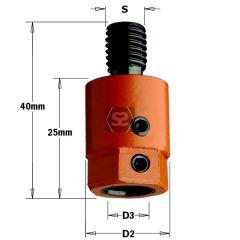 CMT 302 Drill Adaptors S=M10 D=8 RH