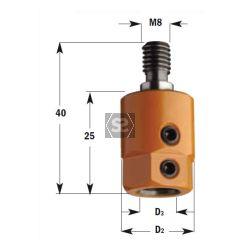 CMT 358 Drill Adaptor S=M8/9 D=10 RH