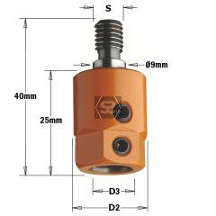 CMT 358 Drill Adaptor  S=M8/9 D=8 LH