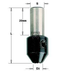 Reducing Bush for Twist Drill d=2 S=10X20 L=38