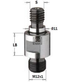 CMT 506 Drill Shank Adaptor S=M10/11 LB=25 LH