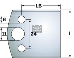CMT Spindle Moulder Blanks KSS 40x4mm Profile 193