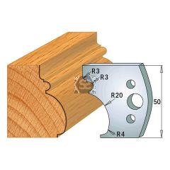 CMT Pr of Moulding Cutters KSS 50x4mm Profile 501
