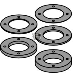 Spacer Ring Kit With Pin Holes For O70x8x40 (4/6.5