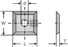 CMT Tungsten Carbide 12x12x1.5 Box of 10 pcs