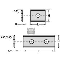 CMT Box of 10 790.300.01 20 x 12 x 1.5 TC Blade