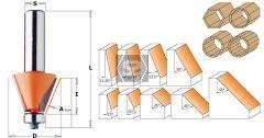 CMT 836 Chamfer Bit w/ Bearing TCT S=6.35 D=45 X18