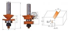 CMT 855 V-Tongue & Groove Router S=1/2 D=1-3/4