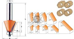 CMT 936 Chamfer Bit w/ Bearing TCT S=12.7 D=21.5X2