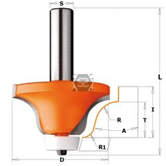 CMT 880 Solid Surface Roundover Bit Ogee Profile