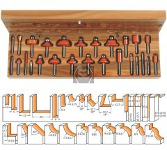 CMT 900 Router Bit Set TCT S=8