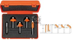 CMT 900 5 pc Profile Router Bit Set TCT S=8