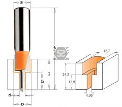 CMT 913 Screw Slot Bit - TCT- S=8 D=4.36/12.7