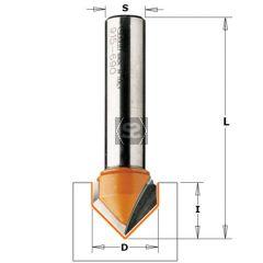 CMT 915 V-Grooving Bit 90 DEG TCT S=8 D=9.5X12.7