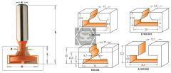 CMT 950 T-Slot Bit Z=1+1  S=12  D=15/32x20