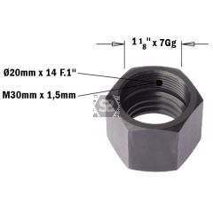 CMT 993 Cap Nut for CNC Machines M30X1.5 RH