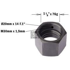 CMT 993 Cap Nut for CNC Machines M30X1.5 LH