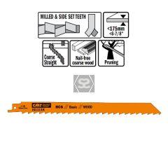 5 Sabre Saw Blades For Wood (hcs) 225x8.5x3tpi
