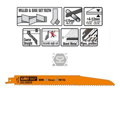 20 Sabre Saw Blades For Metals (bim) 225x2.9x9tpi