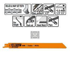 20 Sabre Saw Blades For Metals (bim) 225x1.4x18tpi