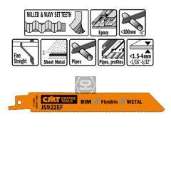 20 Sabre Saw Blades For Metals (bim) 150x1.4x18tpi