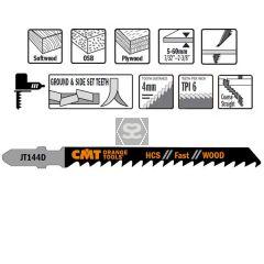 100 Jig Saw Blades Hcs 100x4x6tpi (wood/straight/c