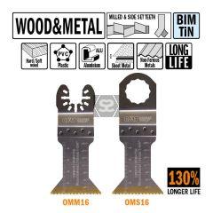 CMT OMM16 45mm XL Life Plunge & Flush for Wood 5pk