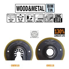 CMT OMM18 87mm XL Life Radial Saw Blade Wood & Met