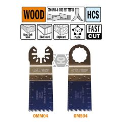 CMT OMS04 34mm Precision Cut. Japan Tooth Wood 5pk