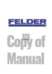 Copy of manual for Felder AD731 741 planer