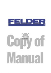 Copy of Manual for Felder F850 Briquette Machine