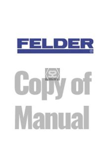 Copy of Manual for Felder Kappa315 450 Panel Saw