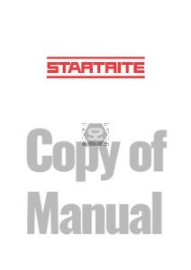 Copy of Manual for Startrite SD31 Planer Thickness