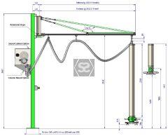 Manut LM Easy Column Mount Vacuum Lifter 50kg 3.0m