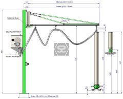 Manut LM Easy Column Mount Vacuum Panel Lifter