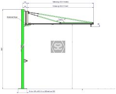 Manut LM Easy Fast Jib Crane only Aluminium 50kg