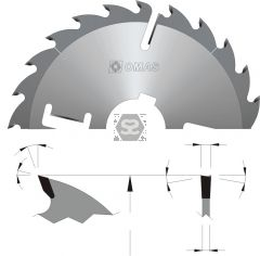 OMAS 318 Multi Rip Saw Blades with Wipers
