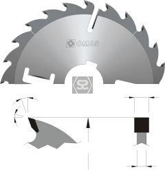 OMAS 323 Extra HD Multi Rip Saw Blades with Wipers