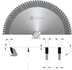 OMAS TCT Triple Chip Saw Blade d=30 D=350 Z=108 V=
