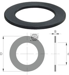 OMAS Spacing Shim d=40 D=60 Z= V= B=18
