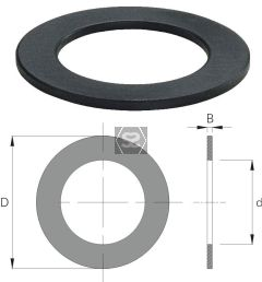 OMAS Spacing Shim d=60 D=80 Z= V= B=18